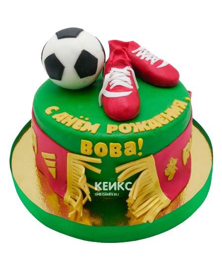 Торт футбол с мастикой