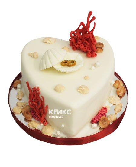 Торт на жемчужную свадьбу 8