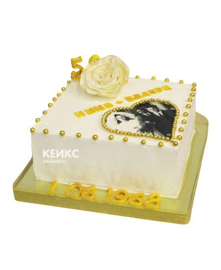 Торт на золотую свадьбу 11