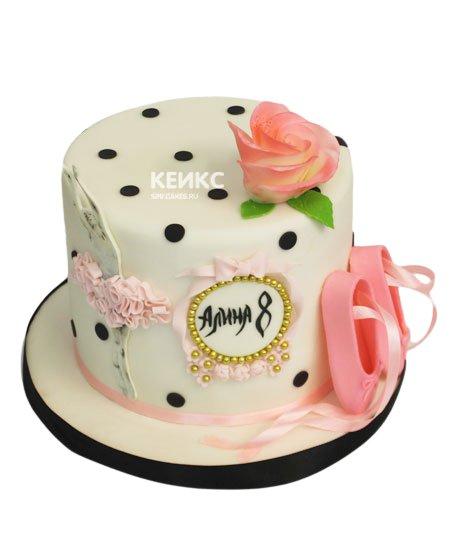 Торт с балериной 11