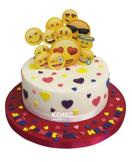 Торт смайлик 15