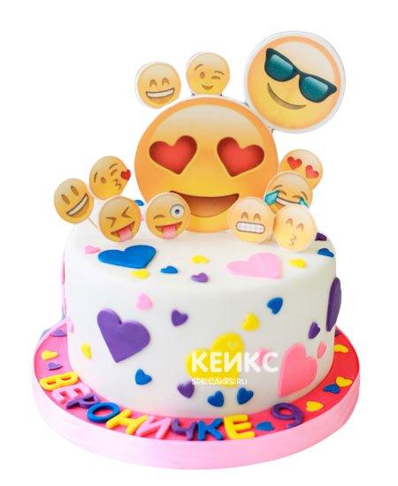 Торт смайлик 16