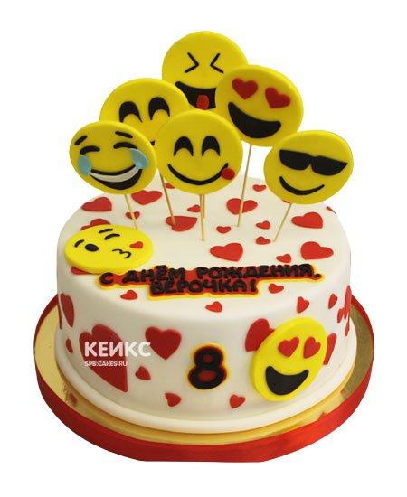 Торт смайлик 17