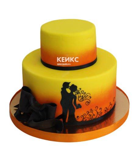 Торт свадебный оригинальный
