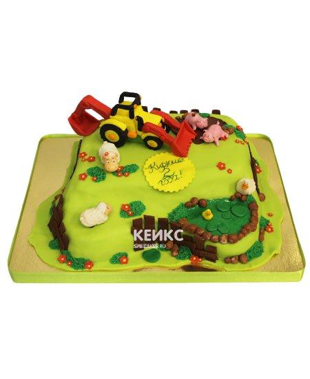 Торт трактор 4