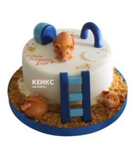 Торт хомяк 7
