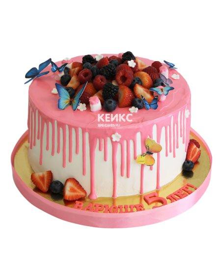 Торт ягодный для девочки 21