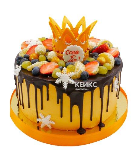 Торт ягодный для девочки 23