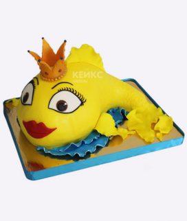 Торт золотая рыбка 10