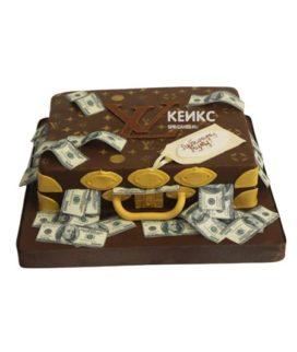 Торт чемодан с деньгами 12