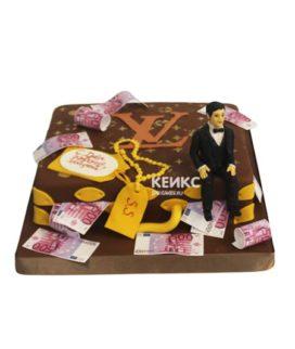 Торт чемодан с деньгами 13