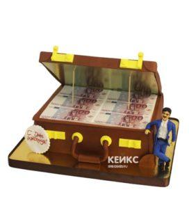 Торт чемодан с деньгами 14