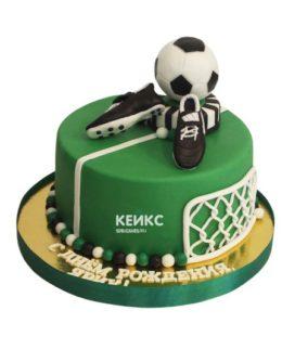 Торт футбол с мастикой 1