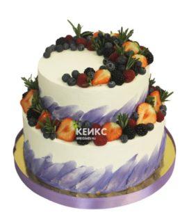 Торт ягодный с ярусами 1