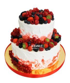 Торт ягодный с ярусами