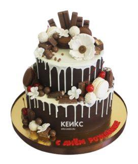 Торт с ягодами без мастики 1