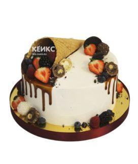 Торт с малиной 8