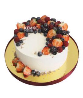 Торт с малиной 9