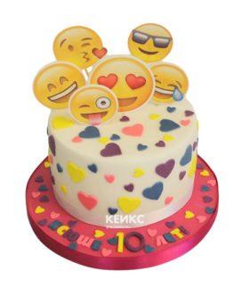 Торт смайлик 18