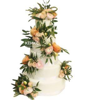 Свадебный торт эксклюзивный 10
