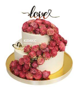 Свадебный торт сердце 11