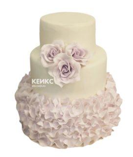 Свадебный торт сиреневый 8