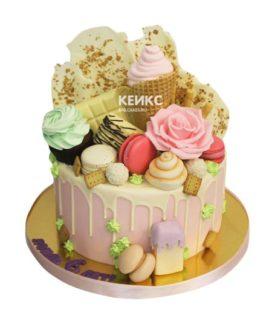Торт без мастики для девочки 12