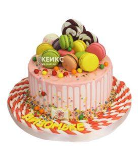 Торт без мастики для девочки 13