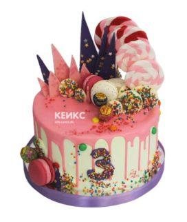 Торт без мастики для девочки 4
