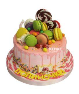 Торт без мастики для девочки 7