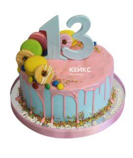 Торт без мастики для девочки 8