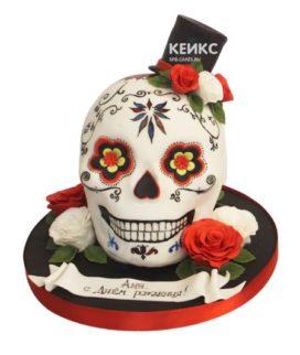 Торт череп 8