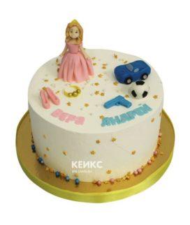 Торт для двойняшек мальчику и девочке 10