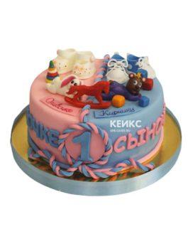 Торт для двойняшек мальчику и девочке 13