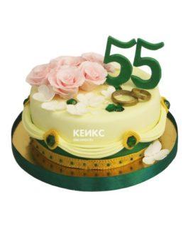 Торт на изумрудную свадьбу 6