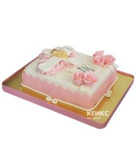 Торт на крестины девочке 1