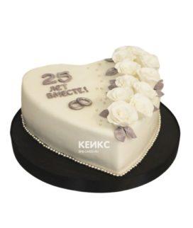 Торт на серебряную свадьбу 10