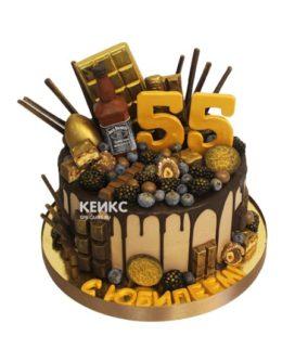 Торт на юбилей мужчине 55 лет 10