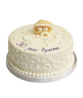 Торт на жемчужную свадьбу 10