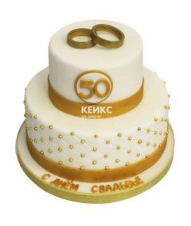 Торт на золотую свадьбу 12