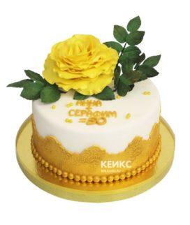 Торт на золотую свадьбу 14