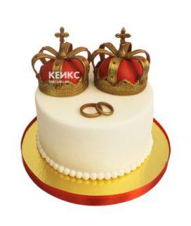 Торт свадебный с кольцами 10