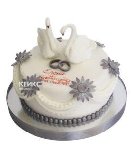Торт свадебный с кольцами 8