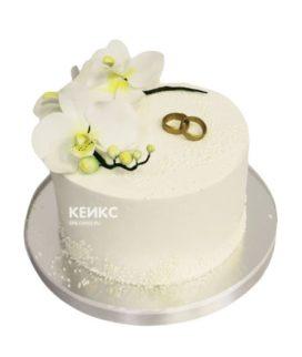 Торт свадебный с кольцами 9