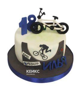 Торт велосипед 9