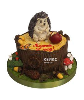 Торт ёжик 9
