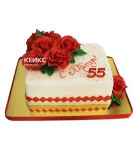 Торт женщине на юбилей 55 лет 24