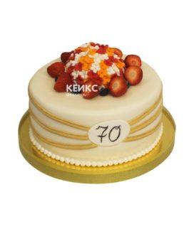 Торт женщине на юбилей 70 лет 6