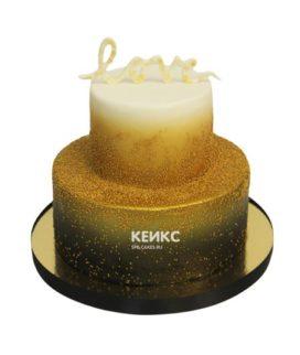 Торт золотой 10